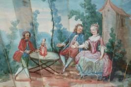 La poupée, éventail vers 1760-70