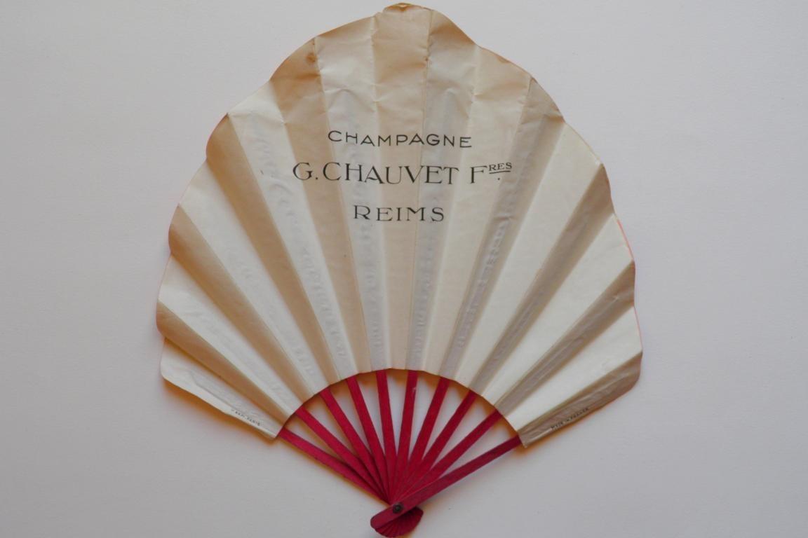 Champagne Chauvet Frères, éventail publiciaire