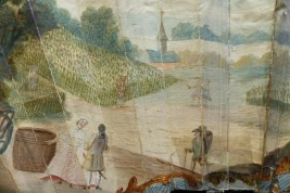 Grape harvests, fan circa 1770