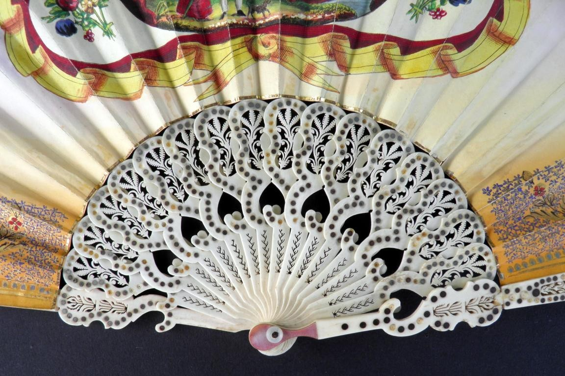 Romantic prelude, fan circa 1830