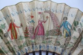 La rose, eventail vers 1785-88