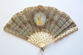 Like Mucha, Art Nouveau fan circa 1905