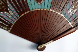 Lined mahogany , 19th century fan