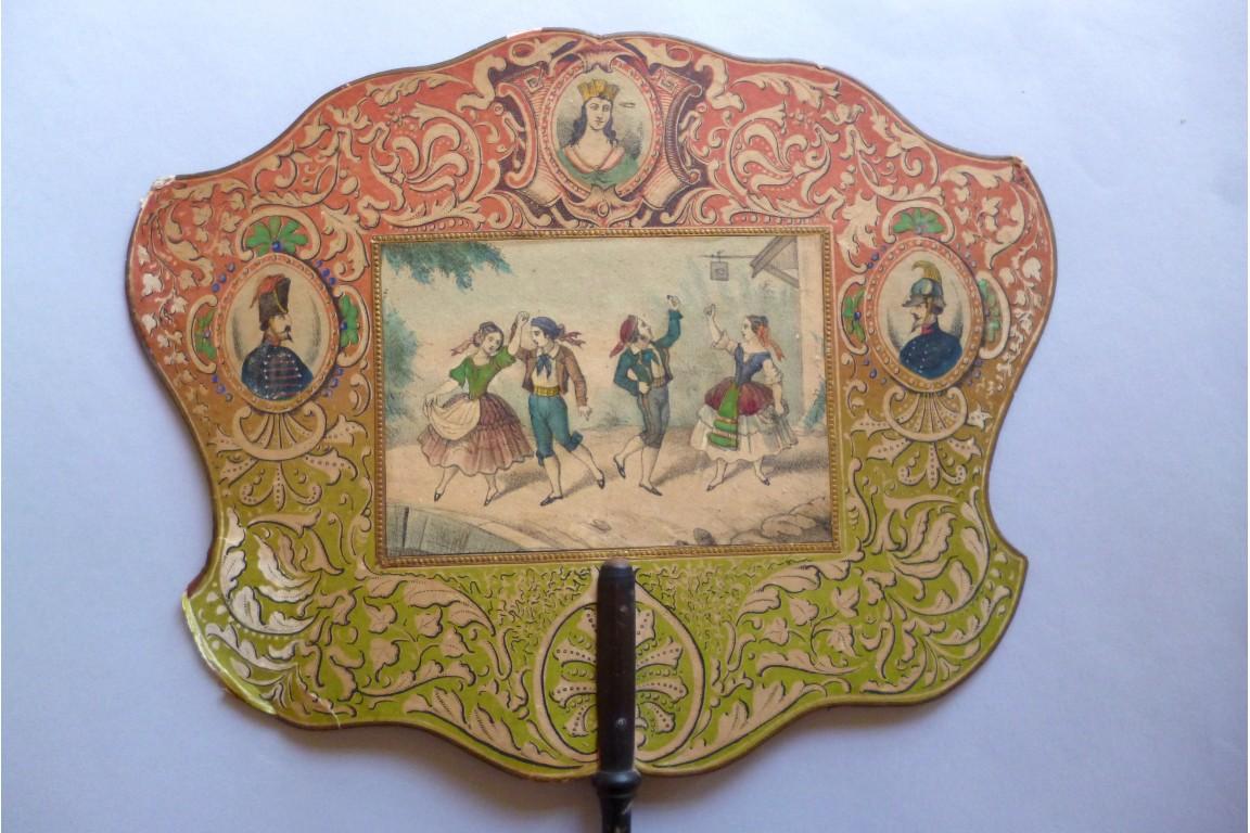 L'unification italienne, écran vers 1860