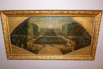 Les jardins de Versailles, feuille d'éventail vers 1700
