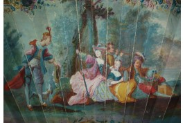 Collation de chasse, éventail vers 1750