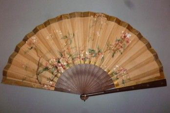 Apple blossom, fan by Gervais ? circa 1900