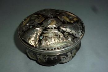 Aigle et coq, tabatière XVIII - XIXème