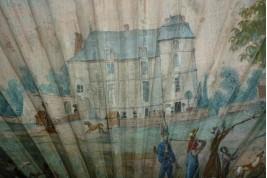Chasse au domaine, éventail vers 1810