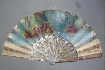 La fête galante, éventail d'Édouard Lièvre vers 1860-70