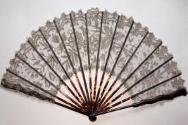 Eventail Art Nouveau dentelle Duvelleroy, vers 1900