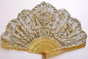 Les iris, éventail vers 1905