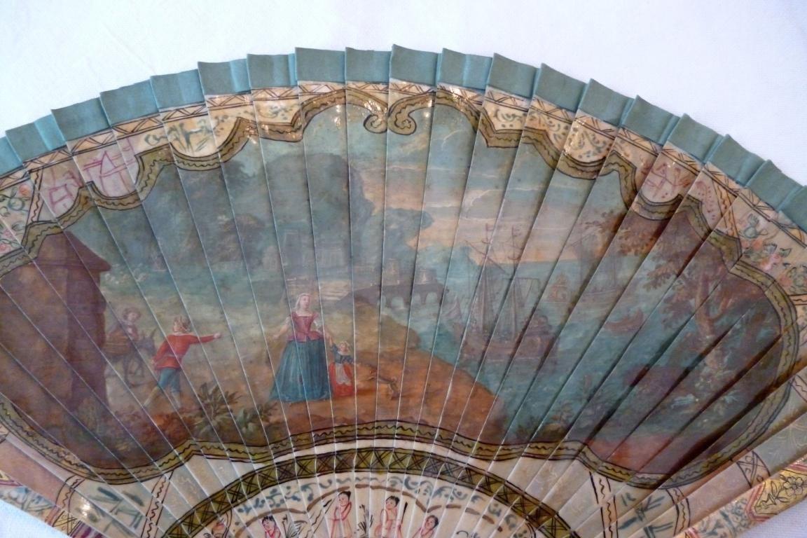 Dido and Aeneas, vernis Martin fan circa 1730