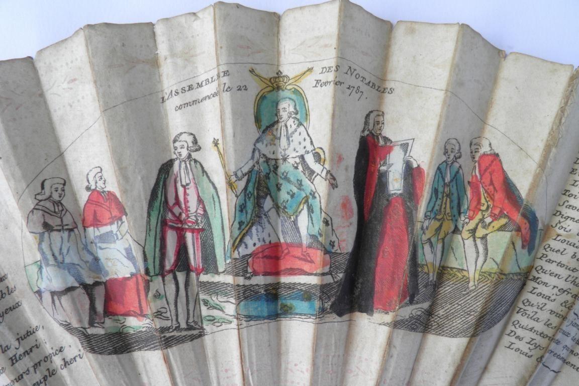L'Assemblée des Notables, revolutionnary fan 1787