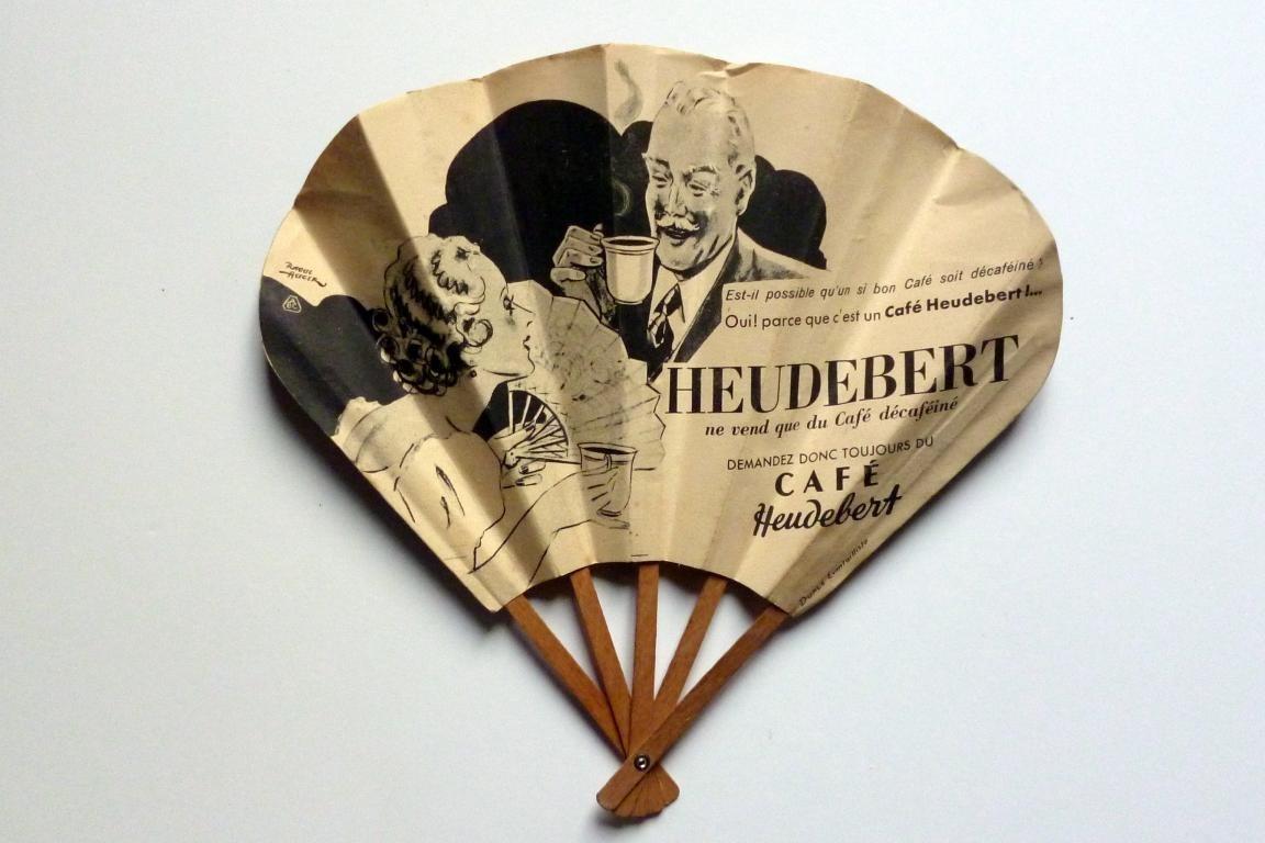 Café Heudebert, advertising fan