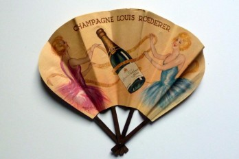 Champagne Louis Roederer, advertising fan by Marcel Bloch