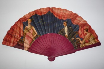 Piver, art deco fan for the perfum Fetiche