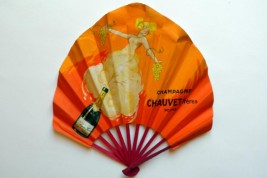 Champagne Chauvet Frères, advertising fan