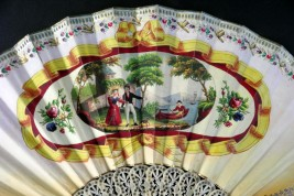 Prélude romantique, éventail vers 1830