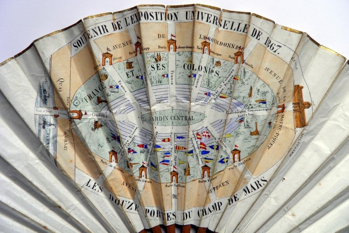 Universal exhibition Paris 1867, advertising fan