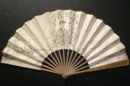 Hunting in castle of Chantilly, fan by Louise Abbema, circa 1900