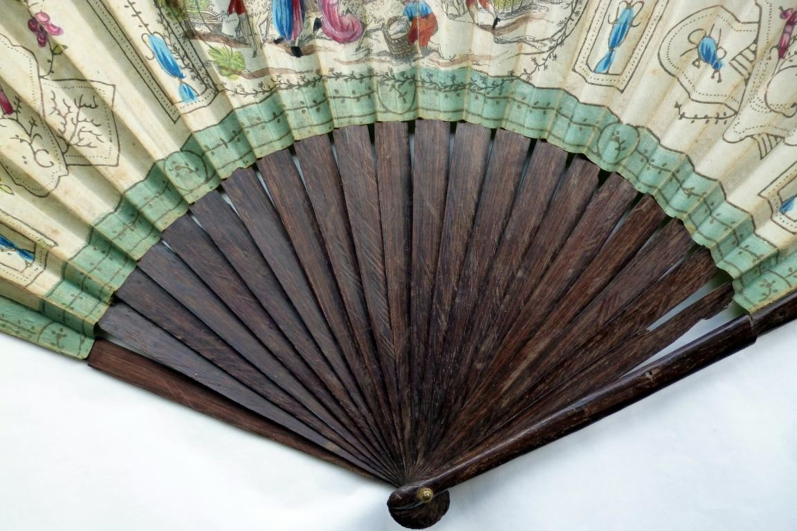 The sheep shearing, a small giant fan circa 1785-90