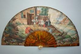 Dans la goût du XVIIIème, éventail vers 1900