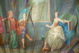 Apelles and Campaspe, fan circa 1720