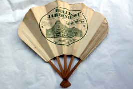 Belle jardinière, advertising fan