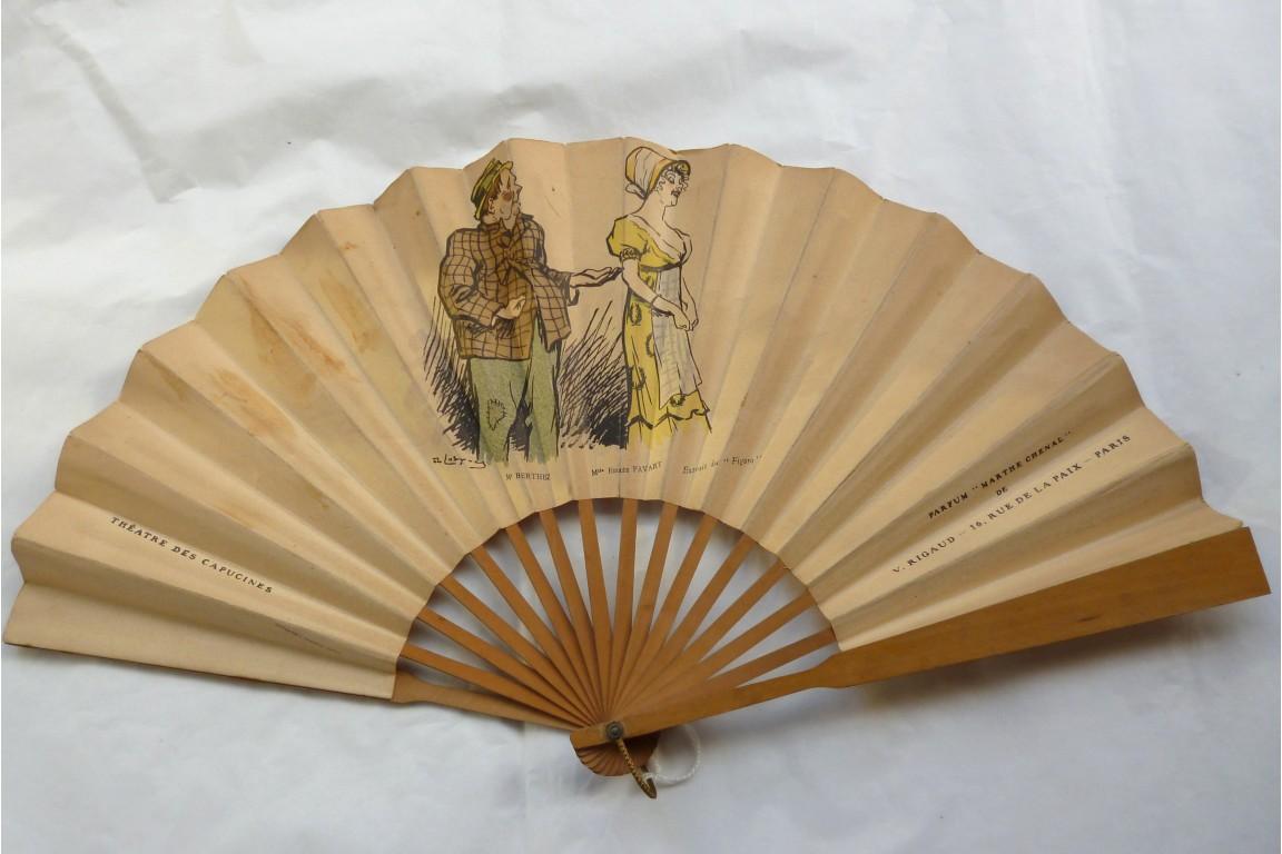Rigaud perfum and Théatre des Capucines fan