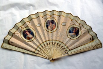 Eysées Palace Hôtel, advertising fan by Duvelleroy