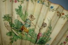 The learned monkeys, 18th century fan