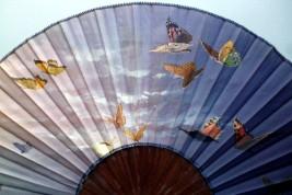 Butterflies, late 19th century fan