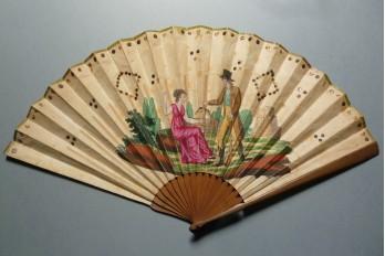 Symbol of love, fan irca 1810