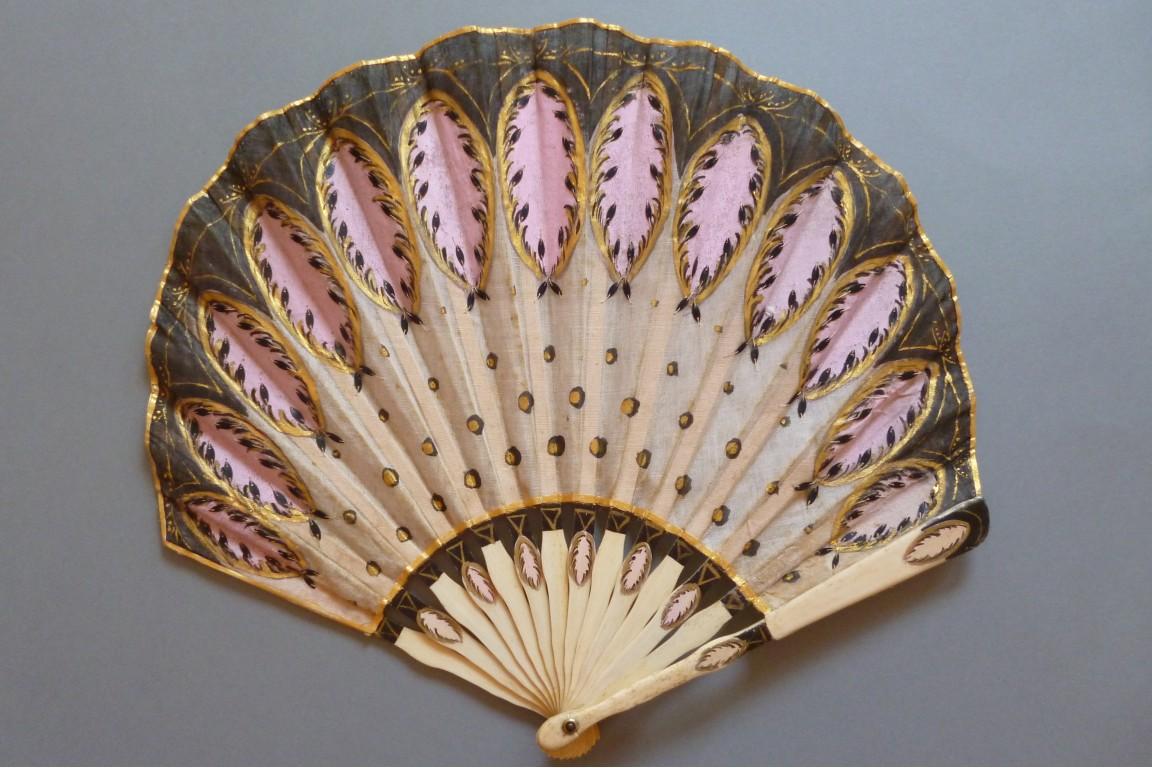 ballon art déco, éventail vers 1900-1920 - fan d'éventails