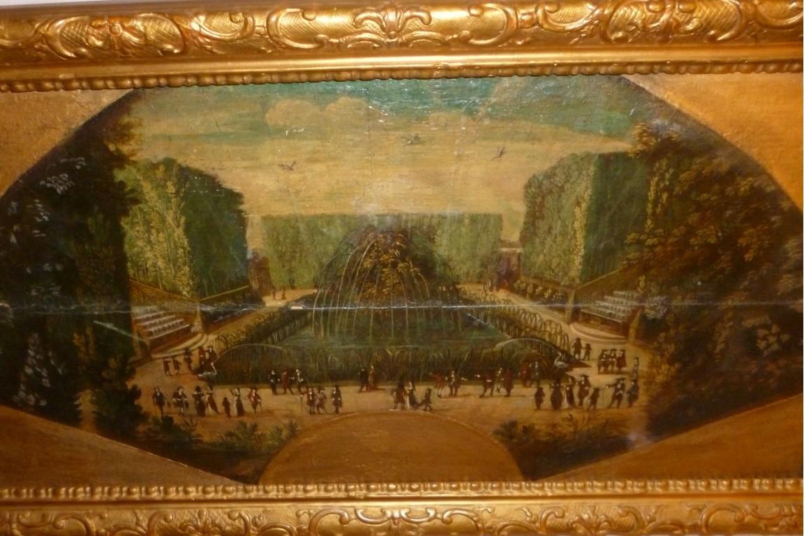 Versailles gardens, fan leaf, circa 1700