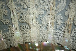 Lace and mother of pearl, fan circa 1860-80
