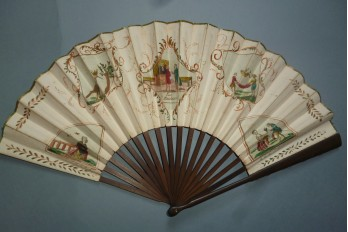 Les plaideurs, theater fan, early 19th century