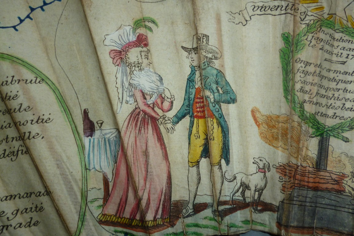 Le serment des Fagotiers, éventail libertin, 1786