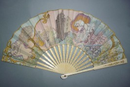 Fanchon, Vieux Paris , fan by Robida circa 1900