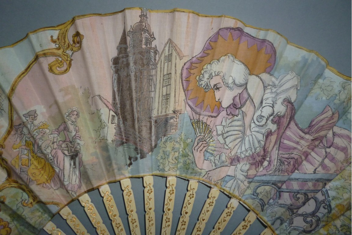 Fanchon, Vieux Paris , fan by Robida circa 1900