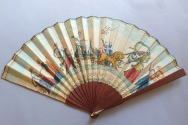 Luneville and Amiens peaces, fan circa 1802