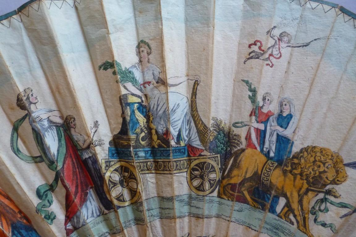 La Paix de Lunéville et d'Amiens, éventail vers 1802