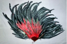 With style , rooster feather fan, 20th century