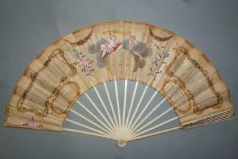 L'oracle, éventail jeu de divination, vers 1780