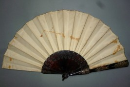 French Third Republic, Alsace and Lorraine, fan by Lanfant de Metz and Alexandre circa 1870