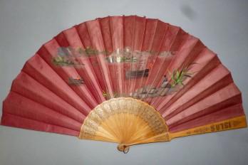 Islas Carolinas, fan from Spanish colony circa 1890