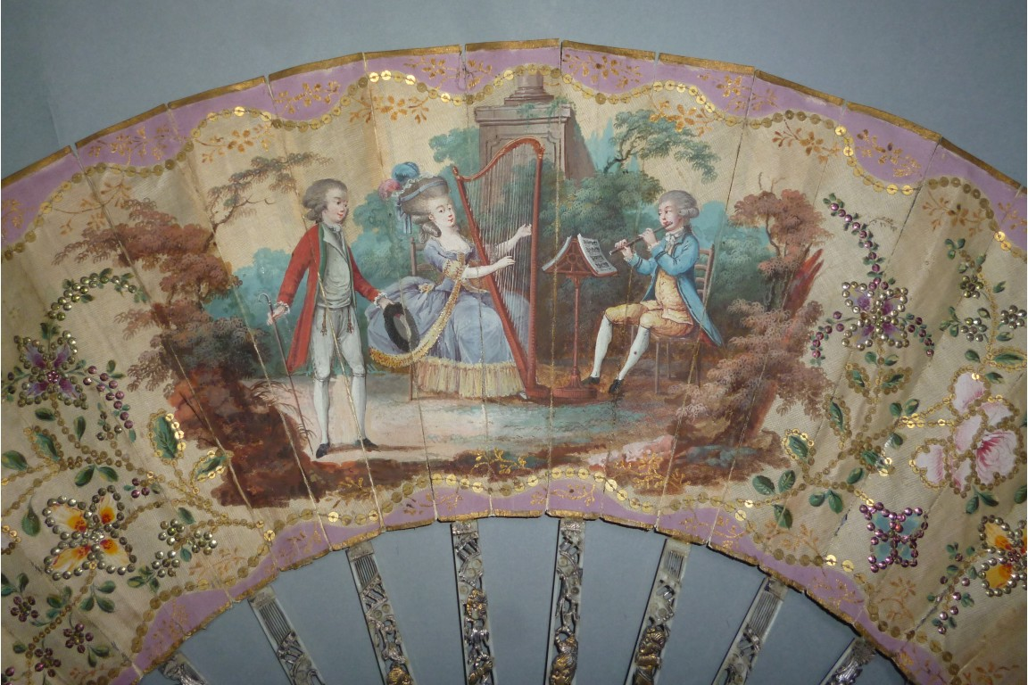 Courteous concert, fan circa 1770