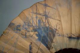 Le port de Calais, éventail d'Eugène Dauphin 1891