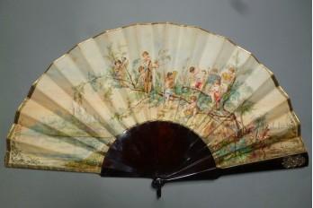 Orchestra of the cherubs, fan by Pauline Astruc 1880